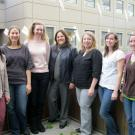 Dr. Sheri Zidenberg-Cherr (center) and some of her students.